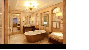 Royal restroom of St. Regis Hotel