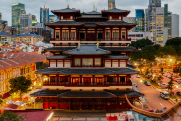 View of Singapore Buddhist Temple from above