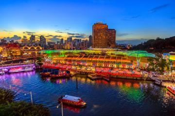 Beautiful scenery at Singapore river