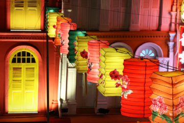 colorful lanterns during Mid-autumn festival