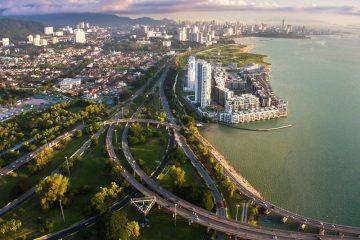ariel view of Georgetown, Penang