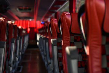 passenger seats of first class bus