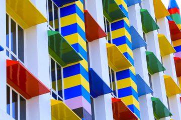 Colorful building for fun theme near LEGOLAND
